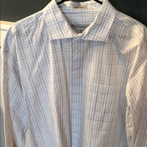 Men's Blue and White Dress Shirt